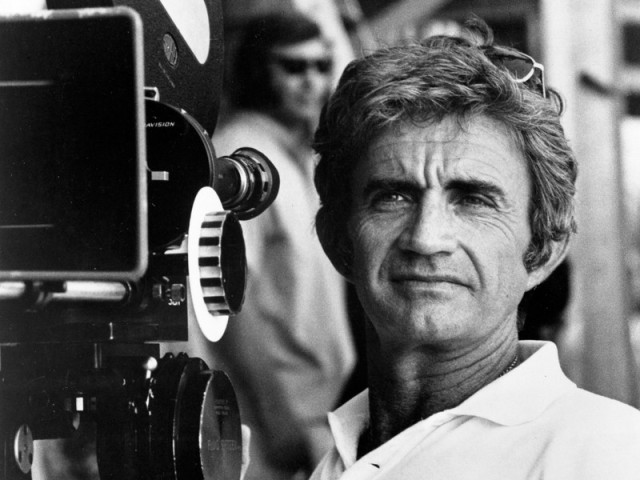 Blake Edwards sur le tournage de Top Secret en 1974