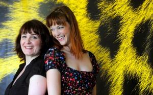 """de gauche à droite: Stéphanie Chuat avec Véronique Reymond réalisatrices de """"La petite chambre"""""""