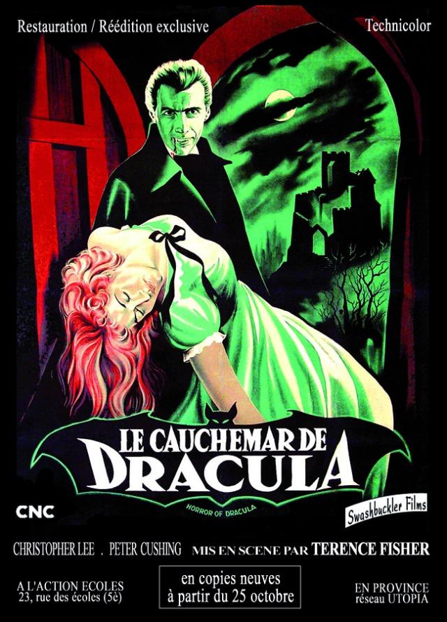 """Affiche de """"Cauchemar de Dracula"""" de Terence Fisher."""