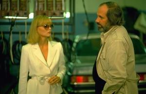 Michelle Pfeiffer et Brian De Palma sur le tournage de Scarface (1983)