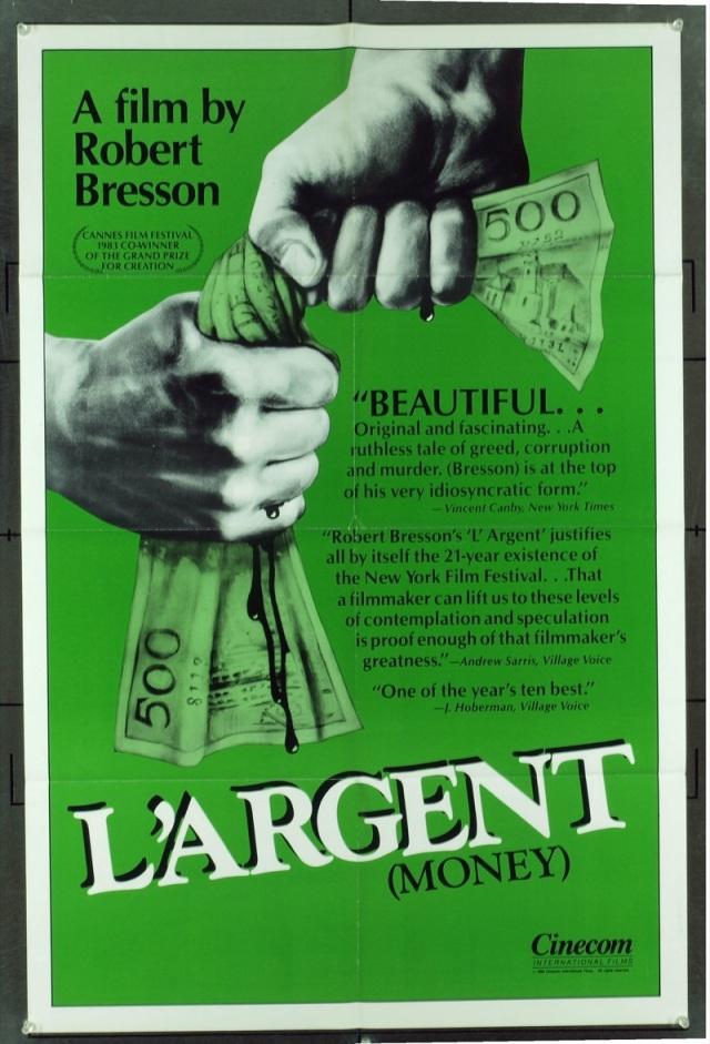 Affiche de L'Argent de Robert Bresson (1983)