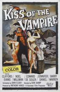 Affiche américaine du Baiser du vampire (1963)