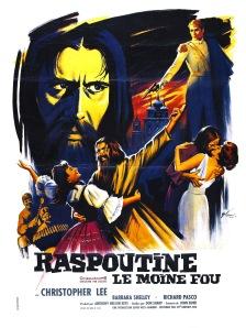 Affiche française de Raspoutine, le moine fou (1966)