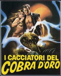 Affiche italienne des Aventuriers du Cobra d'or (1982)