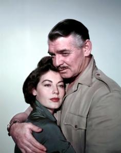 Ava Gardner et Clark Gable dans Mogambo (1953)