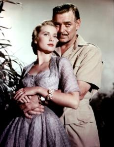 Grace Kelly et Clark Gable dans Mogambo (1953)