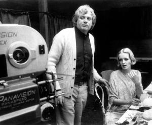 Ken Russel et Twiggy dans le tournage de The Boy Friend (1971)
