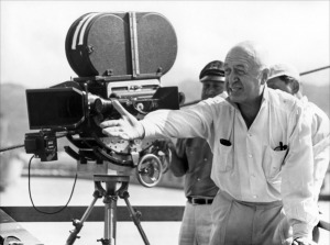 Otto Preminger on the set of In Harm's Way (1965)