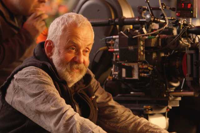 Mike Leigh sur le tournage d'Another Year (2010)