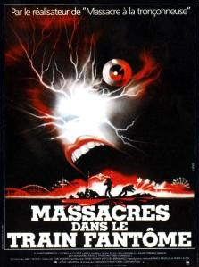 Affiche française de Massacres dans le train fantôme