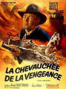 Affiche française de La Chevauchée de la vengeance