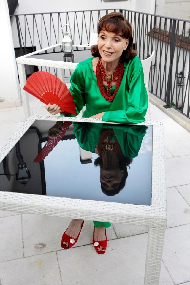 Elsa Martinelli à Locarno, 31 juillet 2012