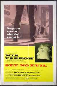 Affiche américaine de Terreur aveugle (1971)