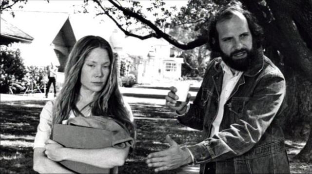 Sissy Spacek et Brian De Palma sur le tournage de Carrie