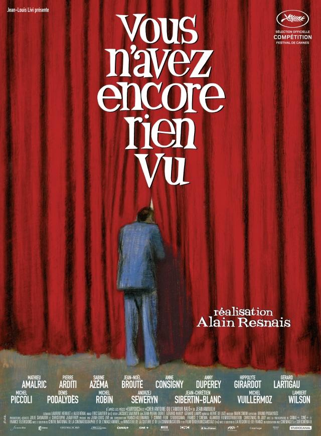 Affiche de Vous n'avez encore rien vu d'Alain Resnais par l'illustrateur Blutch
